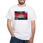 Cambodia Flag White T-Shirt