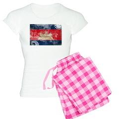 Cambodia Flag Pajamas