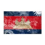 Cambodia Flag 38.5 x 24.5 Wall Peel