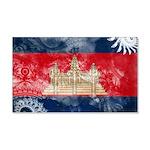 Cambodia Flag 22x14 Wall Peel