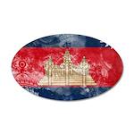 Cambodia Flag 22x14 Oval Wall Peel