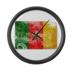 Cameroon Flag Large Wall Clock