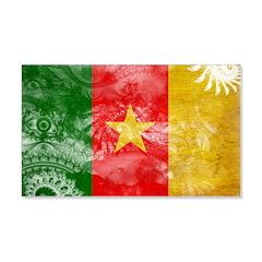 Cameroon Flag 22x14 Wall Peel