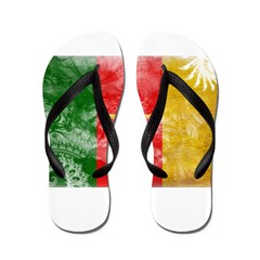 Cameroon Flag Flip Flops