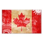 Canada Flag Sticker (Rectangle 10 pk)