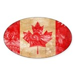 Canada Flag Sticker (Oval)