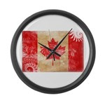 Canada Flag Large Wall Clock