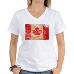 Canada Flag Women's V-Neck T-Shirt