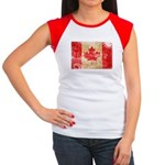 Canada Flag Women's Cap Sleeve T-Shirt