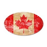 Canada Flag 38.5 x 24.5 Oval Wall Peel