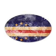 Cape Verde Flag 22x14 Oval Wall Peel
