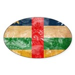 Central African Republic Flag Sticker (Oval)