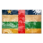 Central African Republic Flag Sticker (Rectangle)