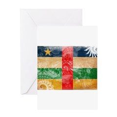 Central African Republic Flag Greeting Card