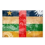 Central African Republic Flag Postcards (Package o