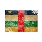 Central African Republic Flag Rectangle Magnet (10