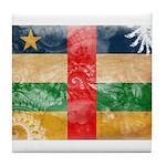 Central African Republic Flag Tile Coaster