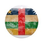 Central African Republic Flag Ornament (Round)