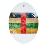 Central African Republic Flag Ornament (Oval)