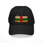 Central African Republic Flag Black Cap
