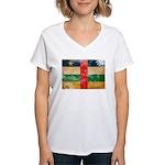 Central African Republic Flag Women's V-Neck T-Shi