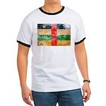 Central African Republic Flag Ringer T