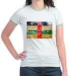 Central African Republic Flag Jr. Ringer T-Shirt