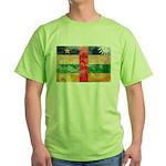 Central African Republic Flag Green T-Shirt
