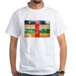 Central African Republic Flag White T-Shirt
