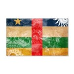 Central African Republic Flag 22x14 Wall Peel