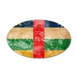 Central African Republic Flag 38.5 x 24.5 Oval Wal