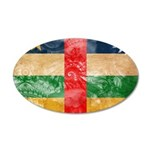 Central African Republic Flag 22x14 Oval Wall Peel