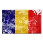 Chad Flag Sticker (Rectangle 10 pk)