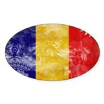 Chad Flag Sticker (Oval 50 pk)