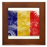 Chad Flag Framed Tile
