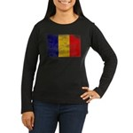 Chad Flag Women's Long Sleeve Dark T-Shirt