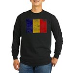 Chad Flag Long Sleeve Dark T-Shirt