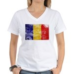 Chad Flag Women's V-Neck T-Shirt