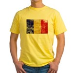 Chad Flag Yellow T-Shirt