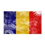 Chad Flag 38.5 x 24.5 Wall Peel