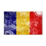 Chad Flag 22x14 Wall Peel