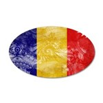 Chad Flag 22x14 Oval Wall Peel