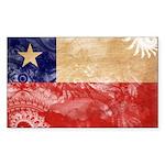 Chile Flag Sticker (Rectangle 10 pk)