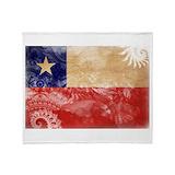 Chilean flag Fleece Blankets