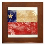 Chile Flag Framed Tile