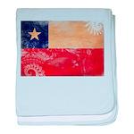 Chile Flag baby blanket
