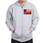 Chile Flag Zip Hoodie
