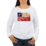 Chile Flag Women's Long Sleeve T-Shirt