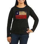 Chile Flag Women's Long Sleeve Dark T-Shirt