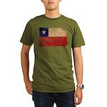 Chile Flag Organic Men's T-Shirt (dark)